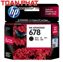 Mực in phun mầu HP 678 Black - Mực đen Ink Cartridge HP 2515