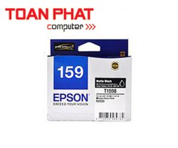 Mực in phun màu Epson T159 Matte Black Ink Cartridge (C13T159890) - SP R2000